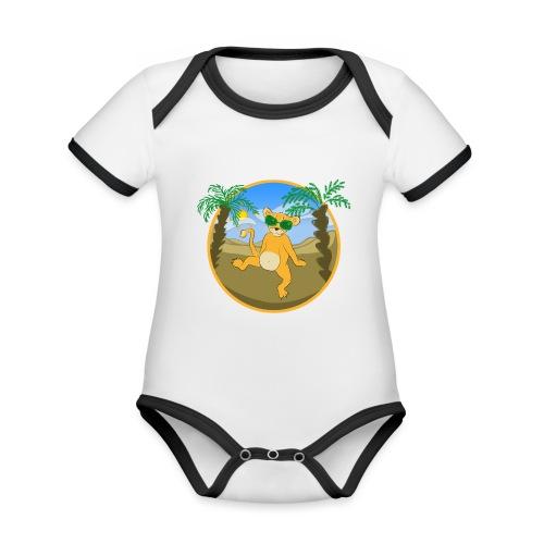 Der Kleine Partylöwe - Baby Bio-Kurzarm-Kontrastbody