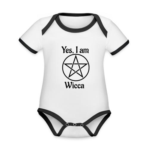 Yes I am Wicca - Body contraste para bebé de tejido orgánico