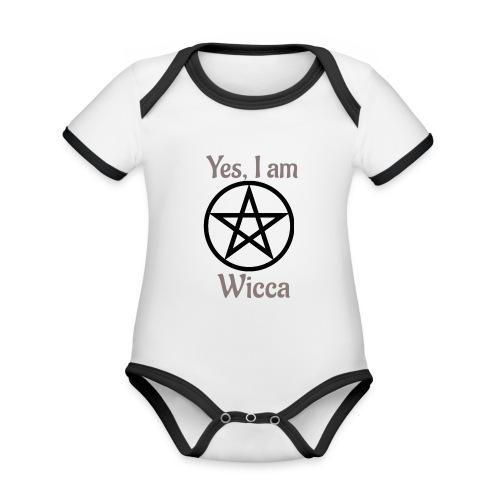Si, soy wicca - Body contraste para bebé de tejido orgánico