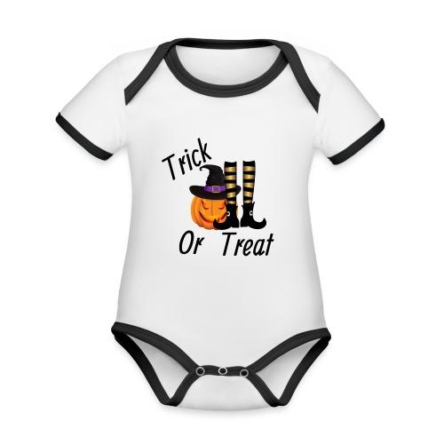 Truco o trato - Body contraste para bebé de tejido orgánico