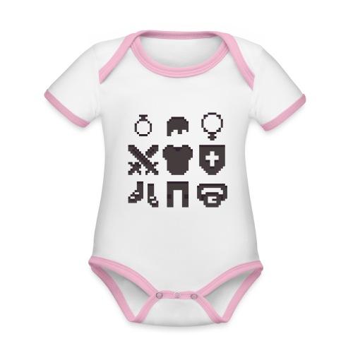 RPG Inventory Slots - Kortærmet økologisk babybody i kontrastfarver