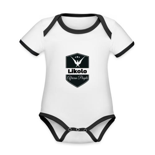 Likolo - Body Bébé bio contrasté manches courtes
