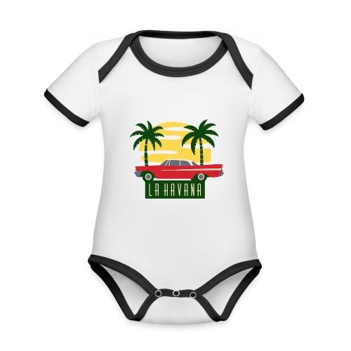 La Havana Vintage - Baby Bio-Kurzarm-Kontrastbody