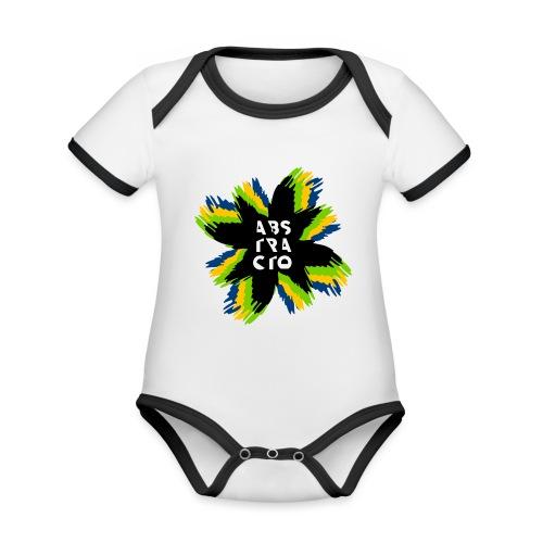 Arte Abstracto - Body contraste para bebé de tejido orgánico
