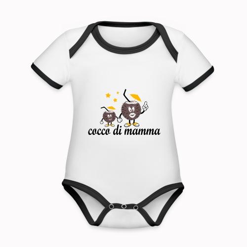 cocco di mamma - Body da neonato a manica corta, ecologico e in contrasto cromatico
