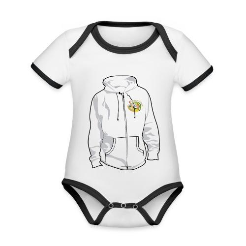 hoodyfront - Baby contrasterend bio-rompertje met korte mouwen