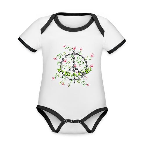 Peace - Baby Bio-Kurzarm-Kontrastbody