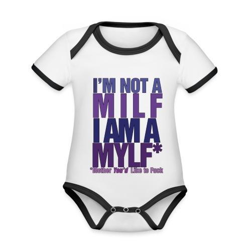 MYLF - Økologisk kortermet kontrast-babybody