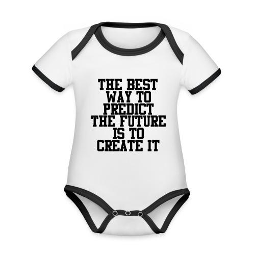 Untitled-10 - Baby contrasterend bio-rompertje met korte mouwen