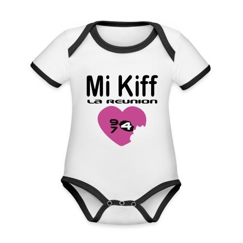 Mi Kiff la reunion - Body Bébé bio contrasté manches courtes