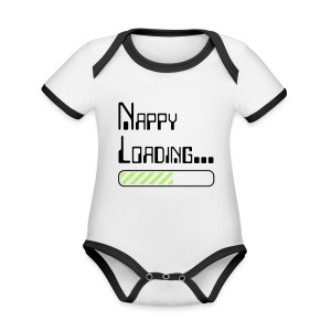 Nappy Loading - Organic Baby Contrasting Bodysuit