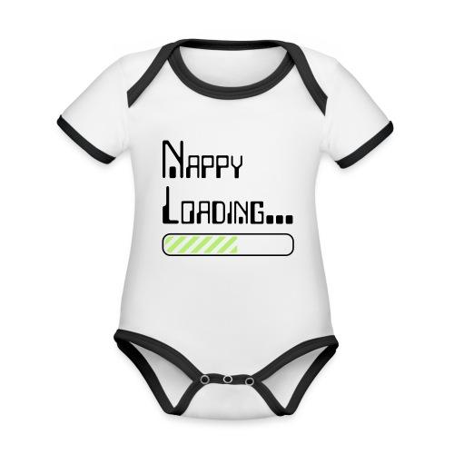 Nappy Loading - Organic Baby Contrasting Bodysuit