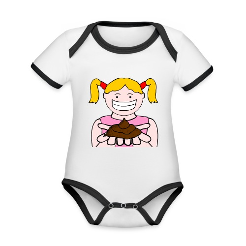 Trudy Walker Poo - Organic Baby Contrasting Bodysuit
