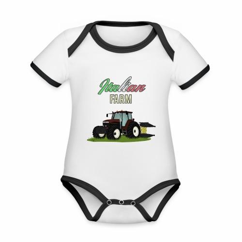 Italian Farm official T-SHIRT - Body da neonato a manica corta, ecologico e in contrasto cromatico