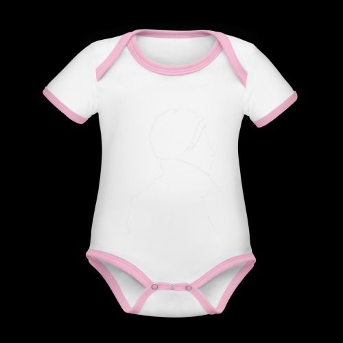 David Bowie Low (white) - Organic Baby Contrasting Bodysuit