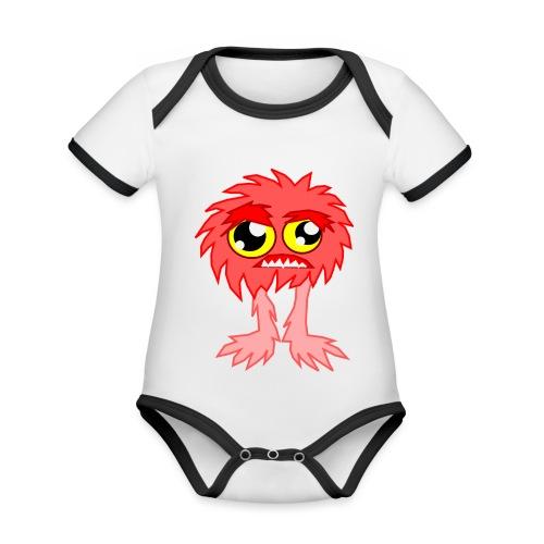 alien monstruo - Body contraste para bebé de tejido orgánico