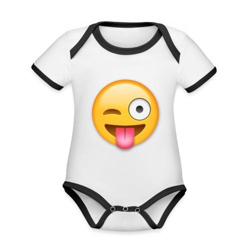 Winking Face - Baby Bio-Kurzarm-Kontrastbody