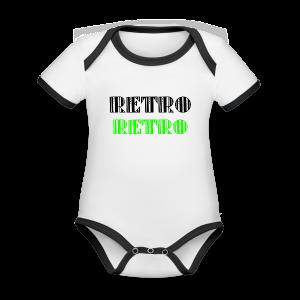 Retro Collections - Økologisk kortermet kontrast-babybody