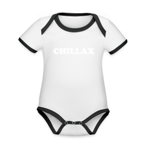 chill Collection - Økologisk kortermet kontrast-babybody
