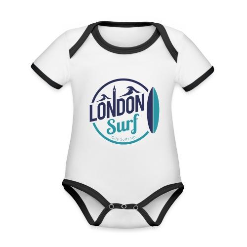 London Surf Classic Logo - Organic Baby Contrasting Bodysuit