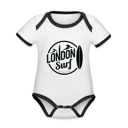 London Surf - Black - Organic Baby Contrasting Bodysuit