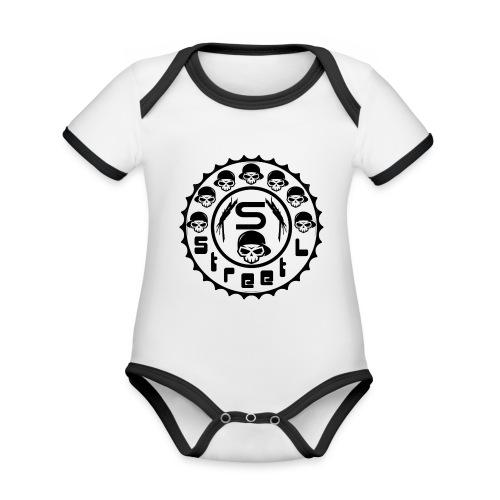 rawstyles rap hip hop logo money design by mrv - Ekologiczne body niemowlęce z krótkim rękawem i kontrastowymi lamówkami
