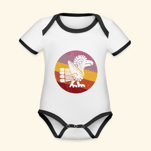 Navajo Style Turkey Retro - Organic Baby Contrasting Bodysuit
