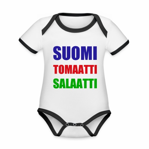 SUOMI SALAATTI tomater - Økologisk kortermet kontrast-babybody