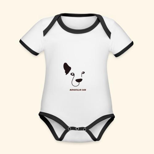 MONOCULAR DOG - Body contraste para bebé de tejido orgánico