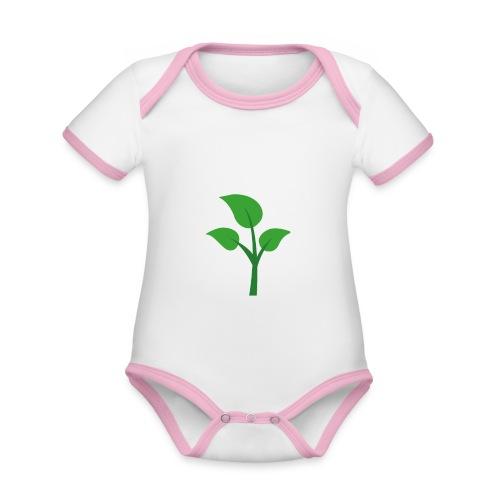 I'M A SPROUT Vegan Mom Print - Baby Bio-Kurzarm-Kontrastbody