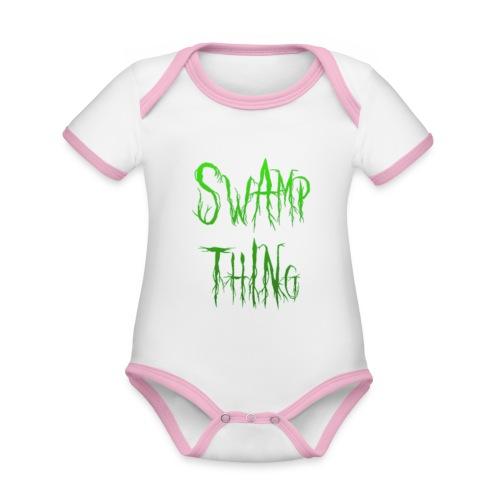 Swamp thing - Organic Baby Contrasting Bodysuit