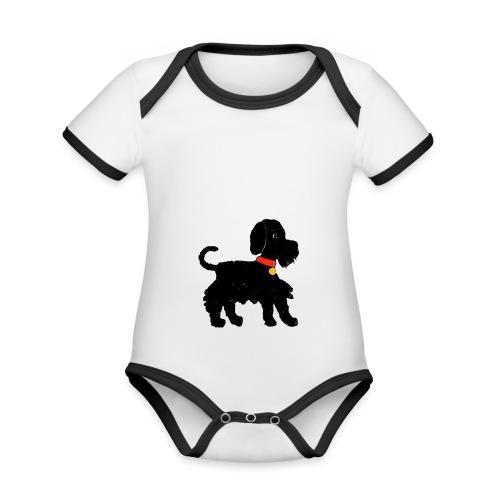 Schnauzer dog - Organic Baby Contrasting Bodysuit