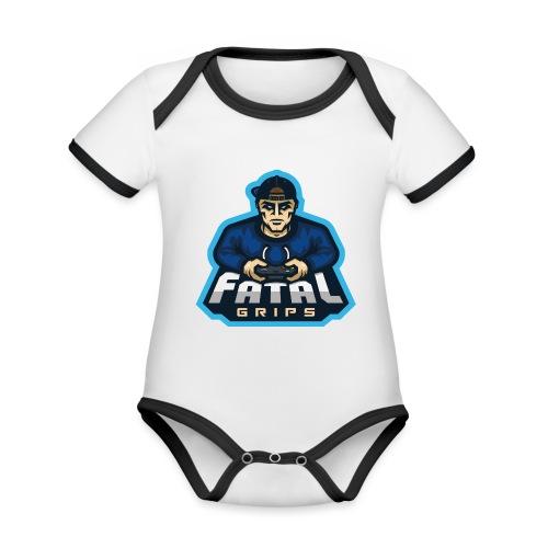 Fatal Grips Merch - Ekologisk kontrastfärgad kortärmad babybody