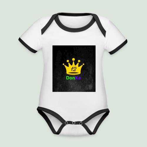 DonKe 12er Fashion - Baby Bio-Kurzarm-Kontrastbody