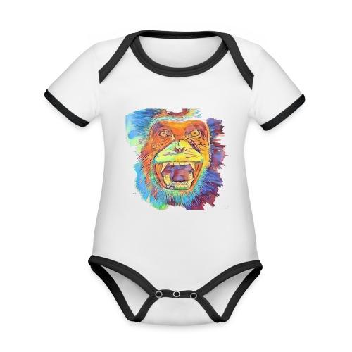 Monkey - Baby Bio-Kurzarm-Kontrastbody