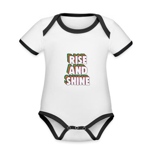 Rise and Shine Meme - Organic Baby Contrasting Bodysuit
