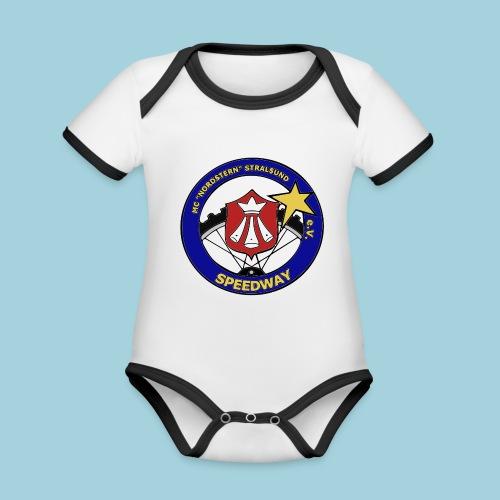 MCN Logo - Baby Bio-Kurzarm-Kontrastbody