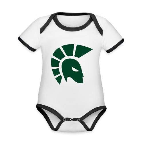 British Racing Green Centurion - Organic Baby Contrasting Bodysuit