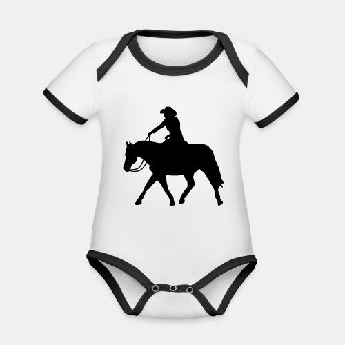 Ranch Riding extendet Trot - Baby Bio-Kurzarm-Kontrastbody