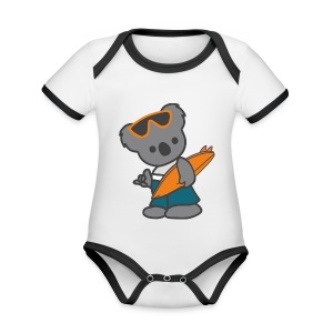 Surfer - Organic Baby Contrasting Bodysuit
