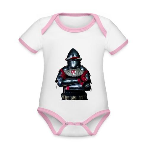 chevalier.png - Body Bébé bio contrasté manches courtes