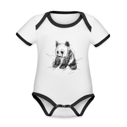 Scribblepanda - Organic Baby Contrasting Bodysuit