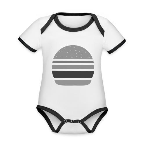 Logo_panhamburger_gris - Body Bébé bio contrasté manches courtes
