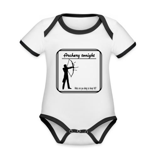 Archery tonight - Vauvan kontrastivärinen, lyhythihainen luomu-body