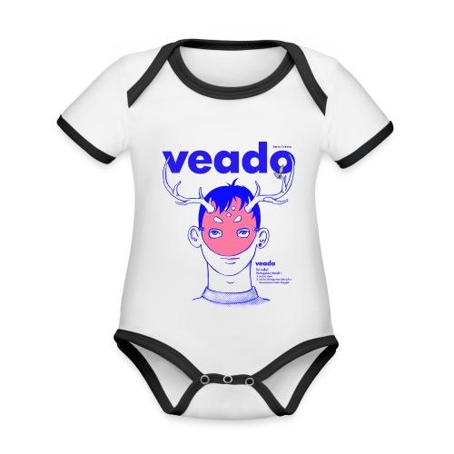 Veado - Body contraste para bebé de tejido orgánico