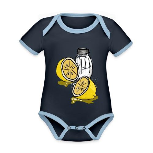 Tequila - Baby contrasterend bio-rompertje met korte mouwen