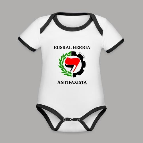 EH antifaxista pour fond clair - Body Bébé bio contrasté manches courtes