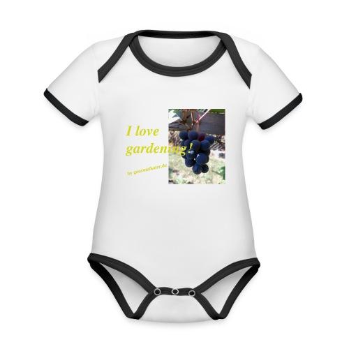 Weintraube - I love gardening - Baby Bio-Kurzarm-Kontrastbody