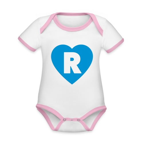 cuoRe - Body da neonato a manica corta, ecologico e in contrasto cromatico