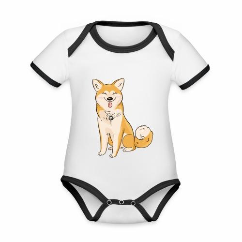 Akita Yuki Logo - Organic Baby Contrasting Bodysuit